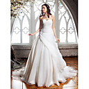 Lanting Bride® Aライン 小柄 / 大きいサイズ ウェディングドレス - クラシック/タイムレス / エレガント/ゴージャス コートトレーン スイートハート オーガンザ とともに