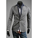 Gray OHFZ Pánské Color Contrast One Button Suit