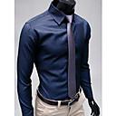 Pánské límec Stripe Long Sleeve Shirt