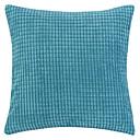 18「Squardノベルティプラッド質感ベルベットポリエステル装飾的な枕カバー