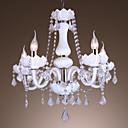 elegantna kristalni luster s 5 svjetla u bijelom