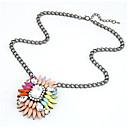 Dámské barevné květiny náhrdelník