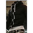 Haoba Kontrast Barva High Neck Hooded Coat (Black)