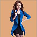 ADD Korean Style 2 Kom Bubble rukav Suit (uz Vest haljina) (plava)