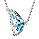 Xingzi Dámská Butterdly Tvar Crystal 40cm Náhrdelník 6500