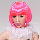 Cijeli Šiške Kratak Ravno Faddish karneval Bob Hair Wig (Pink)