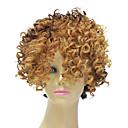 Capless Syntetický Short Mix Color Small kudrnaté vlasy paruka pro černé ženy účes