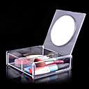 メイク用品収納 化粧品箱 / メイク用品収納 アクリル ゼブラプリント 14.8 x 15.0 x 4.6