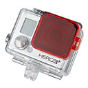 GoPro HD Hero 3 + PC Pod filter mora Cover - Crvena