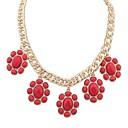 Btime Dámská móda Pochoutka Flower Charm Necklace