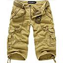男性用の綿の短い純粋な色のショートパンツ