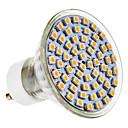 GU10 4W 300LM 60x3528SMD 4100K Natural White Light LED žarulja Spot (220-240V)