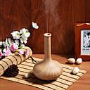 ホーム&オフィス用のLEDナイトライト花瓶形のエア加湿器エッセンシャルオイル木目アロマディフューザー