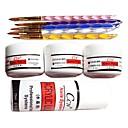 9PCS akril Nail Art Odijelo (5 akril pen & 3 Arcylic prahu i Arcylic Liquid)