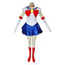 Inspirirana Sailor Moon Sailor Moon Anime Cosplay nošnje Cosplay Suits / Dresses Kolaž Bijela / Crvena / Plava Bez rukavaHaljina /