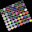 72カラーグリッターパウダーネイルアートの装飾