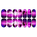 12ks Romantické Purple Coconut Tree Světelné Nail Art Samolepky