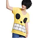 Inspirirana One Piece Monkey D. Luffy Anime Cosplay nošnje Cosplay Tops/Bottoms Print Žuta T-majica