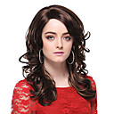 Capless Tope Grade Quality Synthetic Long Curly Brown Hair Wigs