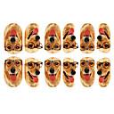 12PCS Lovely Dog with Glasses vzor Světelný Nail Art samolepky
