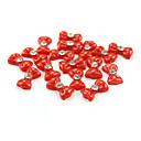 3D 20ks Red pryskyřice drahokamu Bowknot nehty dekorace