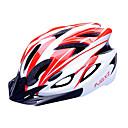 FJQXZ EPS + PC Crveno-bijeli predoblikovanom biciklističku kacigu (18 Ventilacijski otvori)