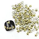 3D 300ks Zlatá pěticípá hvězda Alloy Nail Art Golden & Silver dekorace