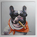ulje na platnu životinja bik pas cigaru pušio ručno oslikana platna