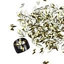 3D 300ks Golden Rhombus Alloy Nail Art Zlaté a stříbrné ozdoby