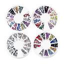 4KS kola Mini drahokamu smíšený styl Barevné Nail Art dekorace