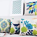 4現代の美しく優雅な鳥や植物の装飾的な枕カバーのセット