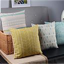 4ミニマリズムの古典的なラインと曲線混合装飾枕カバーのセット