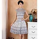 Ženska Collar Bud Svila Ulazak Zajedno Moda Poboljšana Kineska haljina