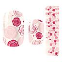 28PCS Pink Rose design Nail Art Samolepky