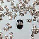 10ks Embedded Diamond Bowknot Nail Art Dekorace
