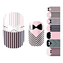 28PCS Striped Tie designu Nail Art Samolepky