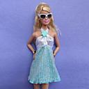 カジュアル コスチューム ために バービー人形 スカイブルー 多くのアクセサリー のために 女の子の 人形玩具