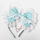 ジュエリー 甘ロリータ 帽子 プリンセス ブルー ロリータアクセサリー ヘッドピース 蝶結び のために 女性 コットン