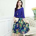 YIWEIYA™女性のボヘミア風ロイヤルブルーのドレス