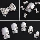 20pcs 3D vještački dijamant okovan klincima Silver Nail Art Dekoracije