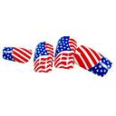 接着剤で24PCSアメリカ国旗デザインネイルアートのヒント