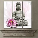 Rastegnut Canvas Art Lotus I Buddha Set od 3