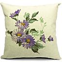 国の花の綿/リネン装飾枕カバー