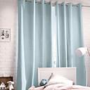 twopages® (jeden panel průchodka nahoře) moderní minimalistický světle modrý pevný závěs