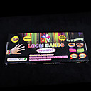 baoguang®for duginim bojama tkalačkom stanu tkalački stan bendovi set (600pcs bendova, 1 paket isječke, 1 kuka, 1 razboja)