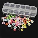 60pcs 12 Konstrukce náhodný pryskyřice flower set nail art dekorace