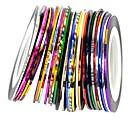 30ks mix barev valí prokládání páska linku nail art dekorace nálepka