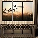 Pejzaž Uokvireno platno / Uokvireni set Wall Art,PVC Crna Stalak nije uključen s Frame Wall Art