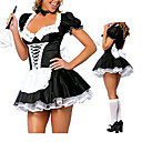 Cosplay Nošnje Odore Festival/Praznik Halloween kostime Bijela i crna Kolaž Haljina Halloween / Karneval Polyester