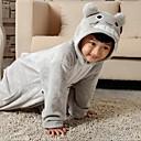 Kigurumi Pyžama Kočka / Totoro Leotard/Kostýmový overal Festival/Svátek Animal Sleepwear Halloween Šedá Jednobarevné Flanel Kigurumi Pro